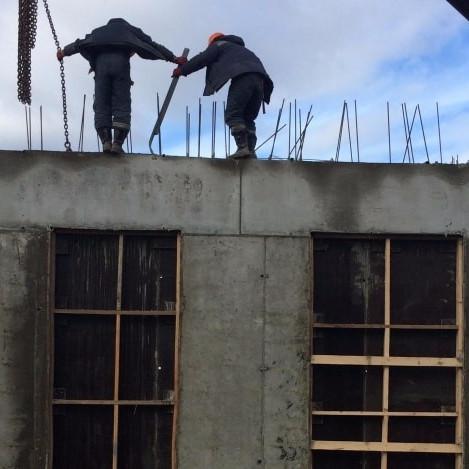 Ход строительных работы в ЖК Отражение